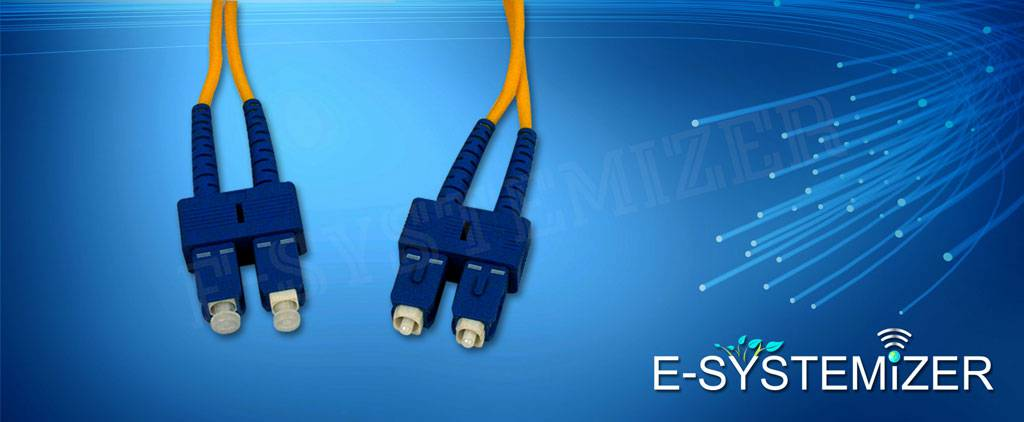 SC SIngle Mode Duplex Fiber Optic patch cord